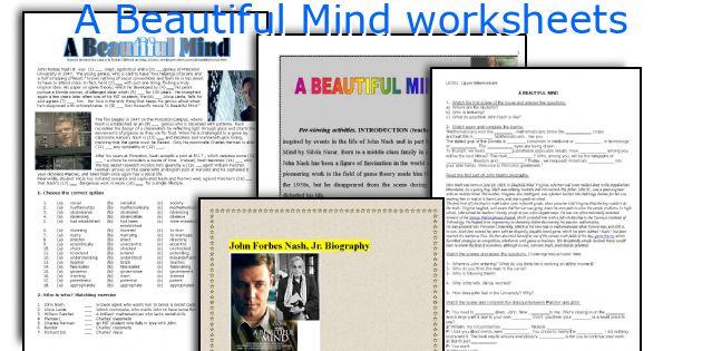 A Beautiful Mind worksheets
