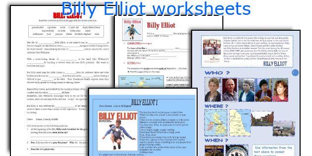 Billy Elliot worksheets