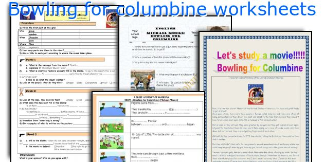 Bowling for columbine worksheets