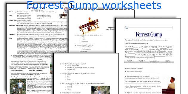 Forrest Gump worksheets