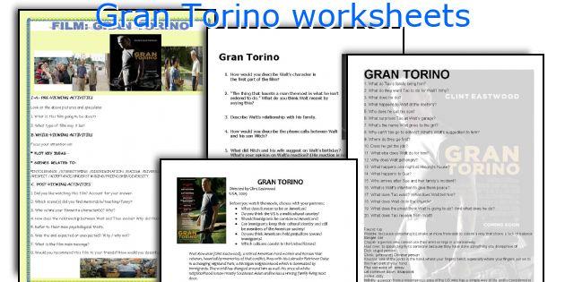 Gran Torino worksheets