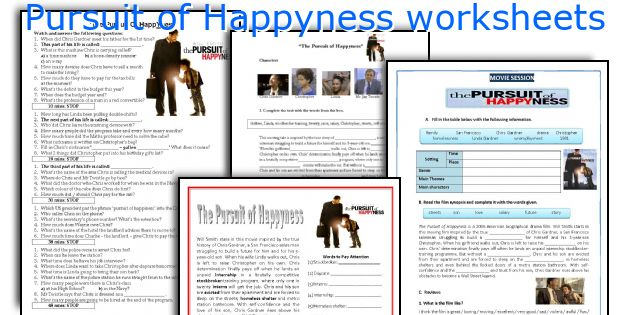 Pursuit Of Happyness Worksheets