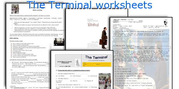 The Terminal worksheets
