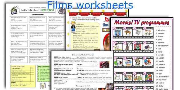 Films worksheets