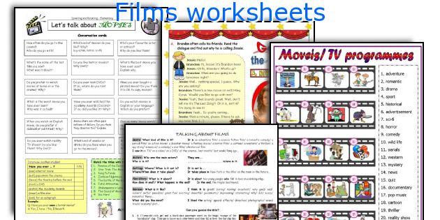 Films worksheets