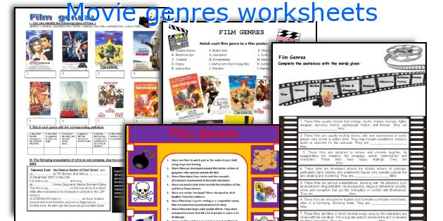 English teaching worksheets Movie genres – Genre Worksheet
