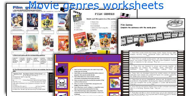Movie genres worksheets