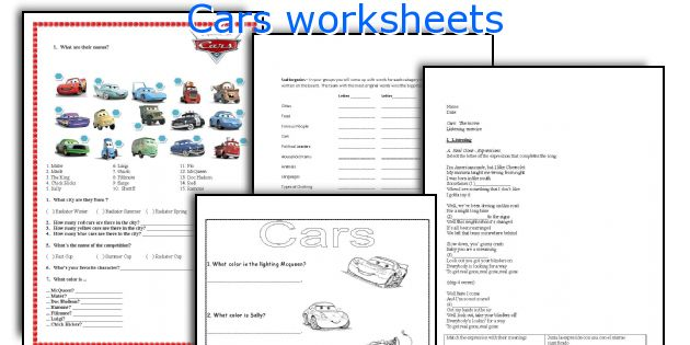 All Worksheets Disney Cars Worksheets