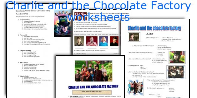 Charlie and the Chocolate Factory worksheets