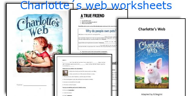 English teaching worksheets: Charlotte´s web