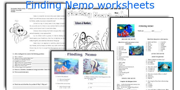 Finding Nemo worksheets
