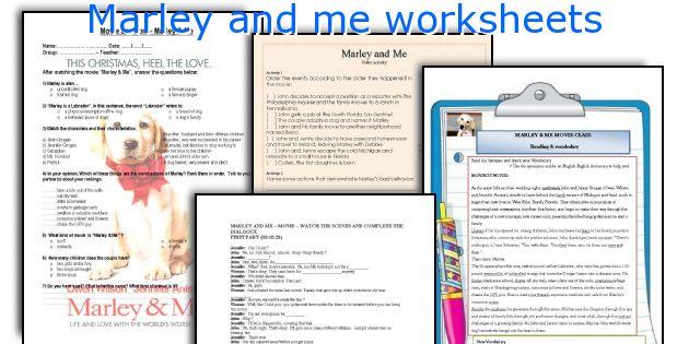 marley and me worksheets rh eslprintables com Marley and Me Quotes Marley and Me Actors