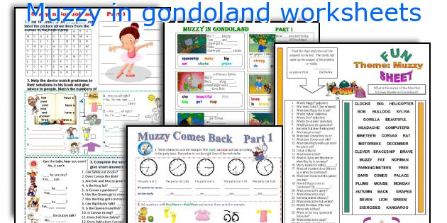 Muzzy in gondoland worksheets