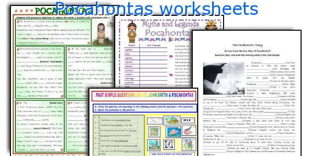 Pocahontas worksheets