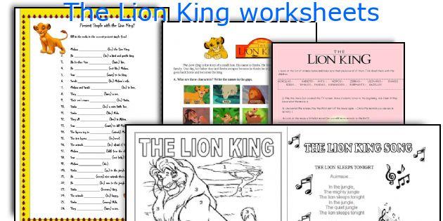 the lion king worksheets rh eslprintables com Lion King 2 Lion King 1