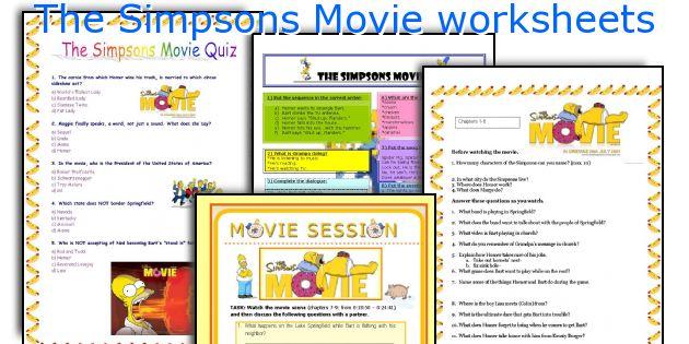English teaching worksheets The Simpsons Movie – Movie Worksheets