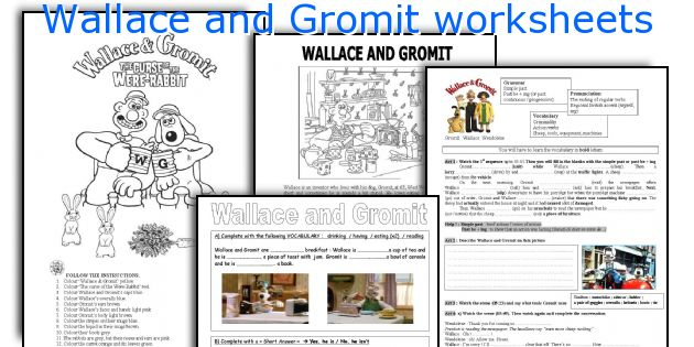 wallace and gromit worksheets. Black Bedroom Furniture Sets. Home Design Ideas