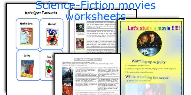 Science-Fiction movies worksheets