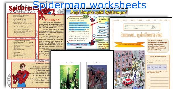 Spiderman worksheets