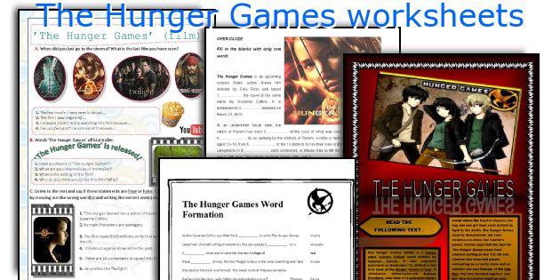 The Hunger Games Worksheets
