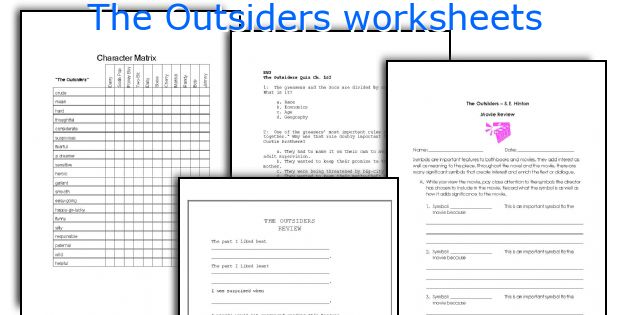 Worksheets The Outsiders Worksheets english teaching worksheets the outsiders