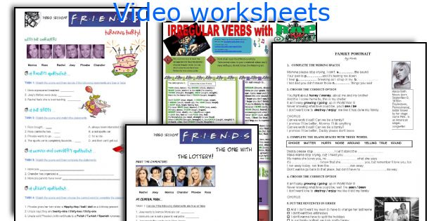 Video worksheets