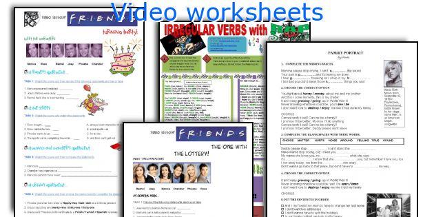 Video worksheets