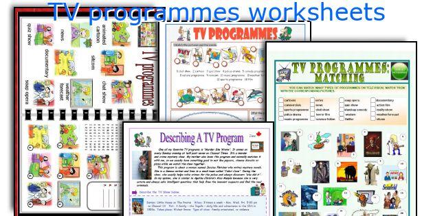 TV programmes worksheets