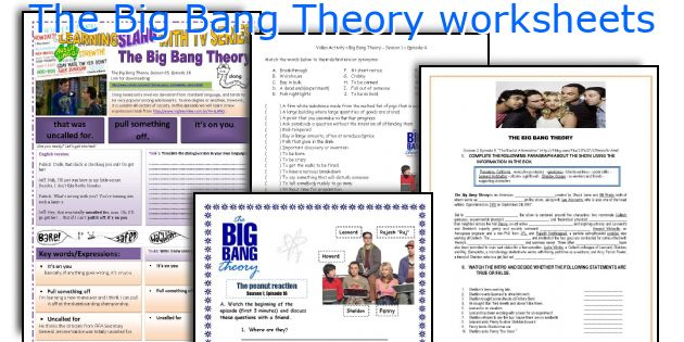The Big Bang Theory worksheets