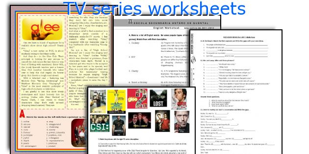 TV series worksheets