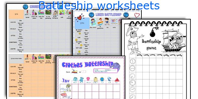 Battleship worksheets