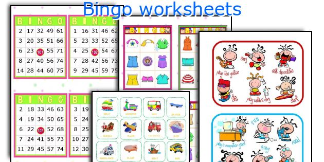 Bingo worksheets