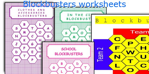 Blockbusters worksheets