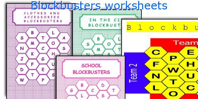 Blockbusters worksheets