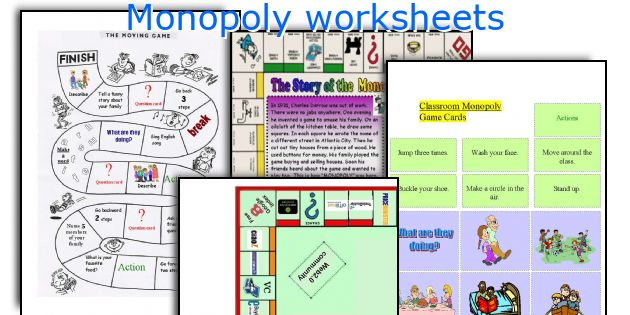 Monopoly worksheets