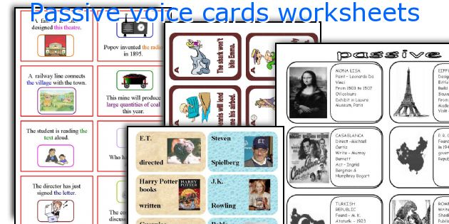 English Teaching Worksheets Passive Voice Cards