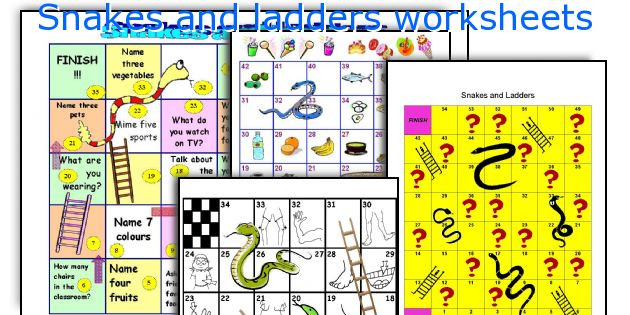 Snakes and ladders worksheets