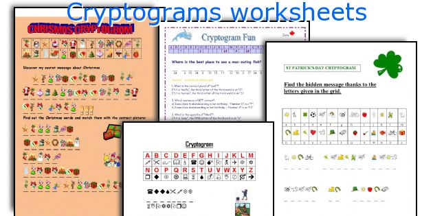 Cryptograms worksheets
