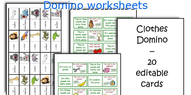 Domino worksheets