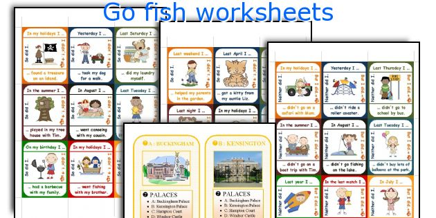 Go fish worksheets