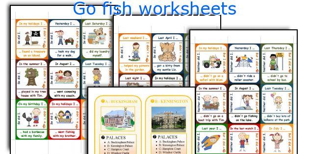 Go fish worksheets