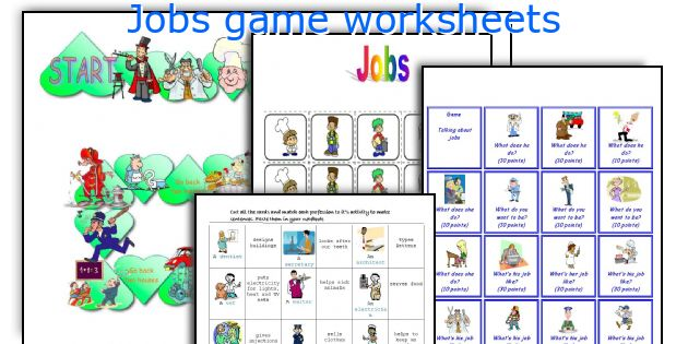 Jobs game worksheets