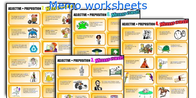 Memo worksheets