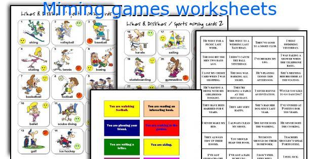 Miming games worksheets
