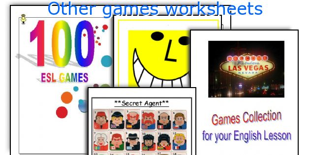 Other games worksheets