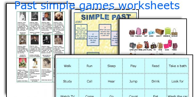 Past simple games worksheets