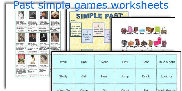 Past simple games worksheets