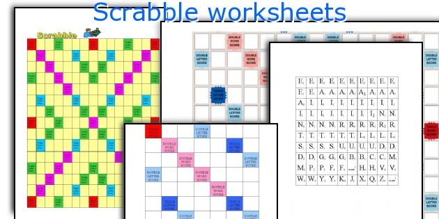 graphic relating to Printable Scrabble Board titled Scrabble worksheets