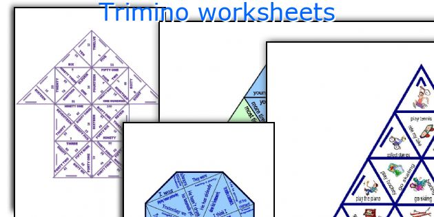 Trimino worksheets