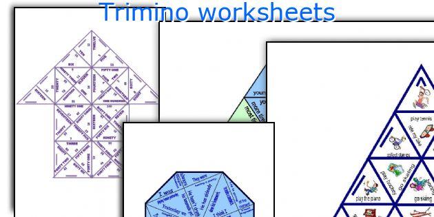 Trimino worksheets